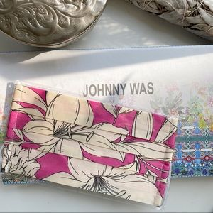 Johnny Was Floral Print Silk Charmeuse Face Mask